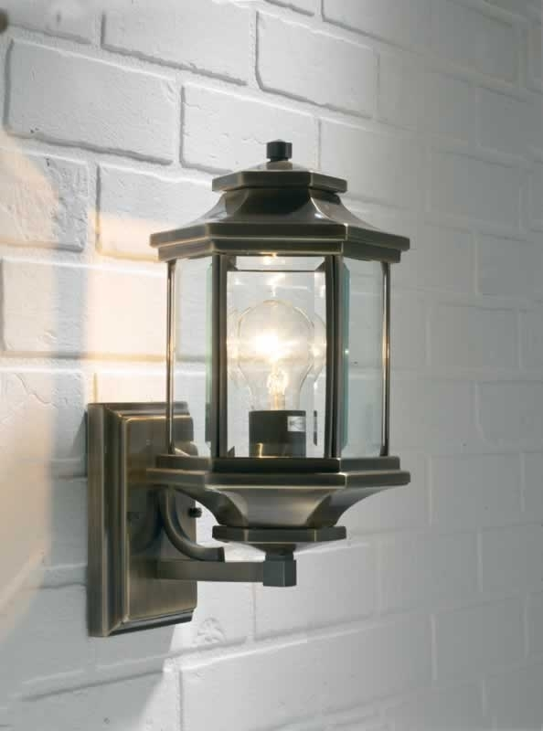 Inspiration about Ladbroke 1X100W Antique Brass Outdoor Wall Lantern Fitting With For Outdoor Wall Lanterns (#12 of 15)
