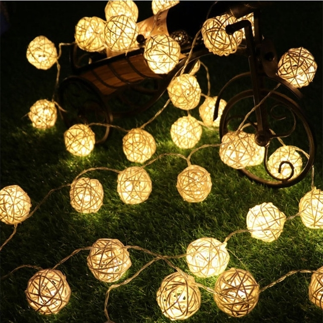 Landscape Lighting 8 Meters Led Solar Lanterns Holiday Garden Inside Outdoor Ball Lanterns (View 10 of 15)