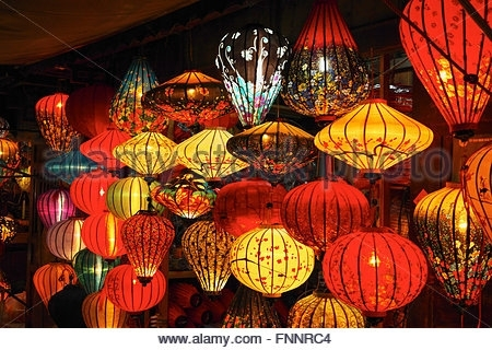 Lantern, Vietnam Stock Photo: 161369573 – Alamy Within Outdoor Vietnamese Lanterns (View 11 of 15)