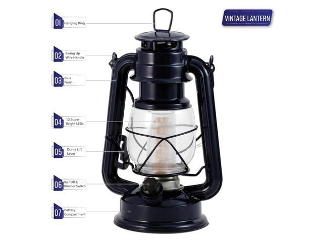 Inspiration about Lantern Vintage 12 Led – Tabletop Lanterns Decorative Outdoor Large In Outdoor Vintage Lanterns (#15 of 15)