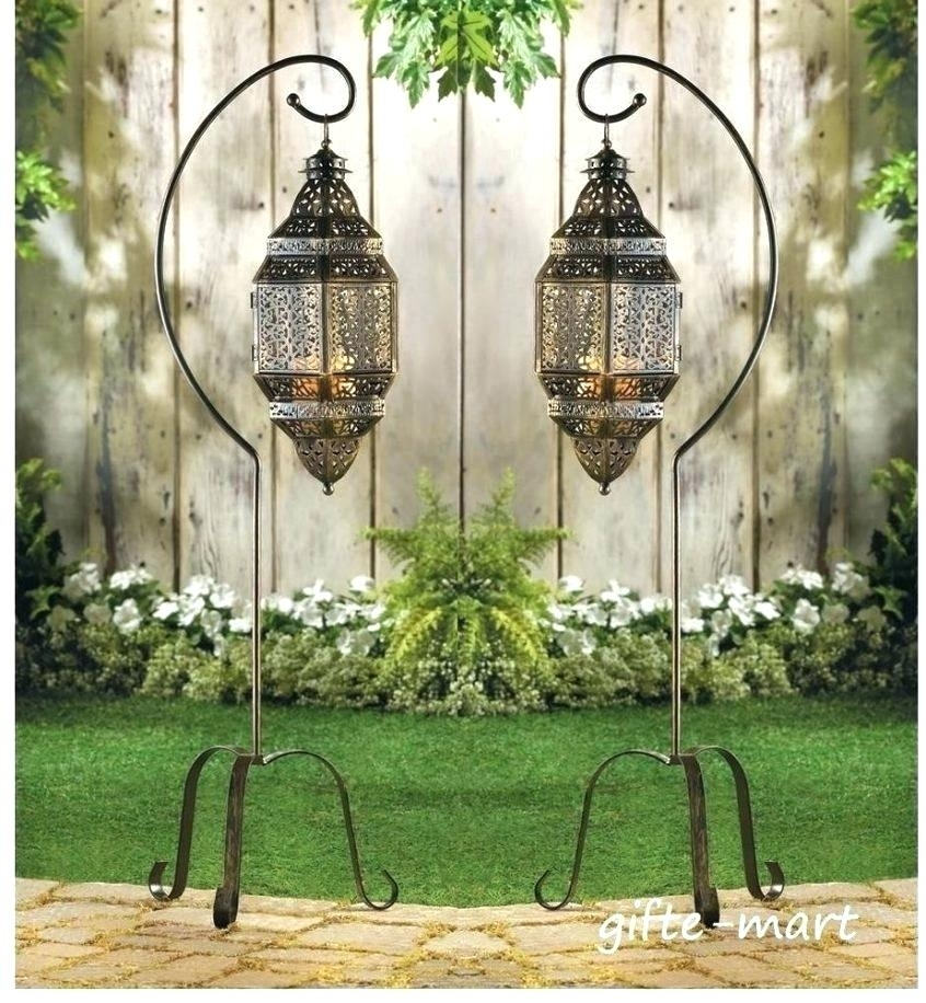 Inspiration about Large Floor Lanterns S Lamp Lantern Hanging Pendant Candle Holder Inside Outdoor Standing Lanterns (#14 of 15)