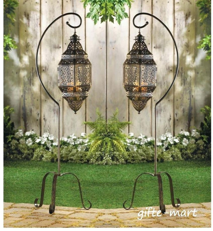 Inspiration about Large Moroccan Lantern S Floor Lamp Hanging Pendant Candle Holder Within Outdoor Hanging Electric Lanterns (#8 of 15)