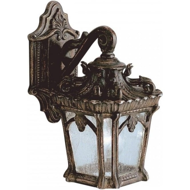 Large Outdoor Bronze Wall Lantern In Ornate Victorian Gothic Style Pertaining To Victorian Outdoor Lanterns (#3 of 15)