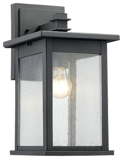 Large Outdoor Wall Sconces Led Outside Wall Lights Black Wall Regarding Large Outdoor Wall Lanterns (View 8 of 15)