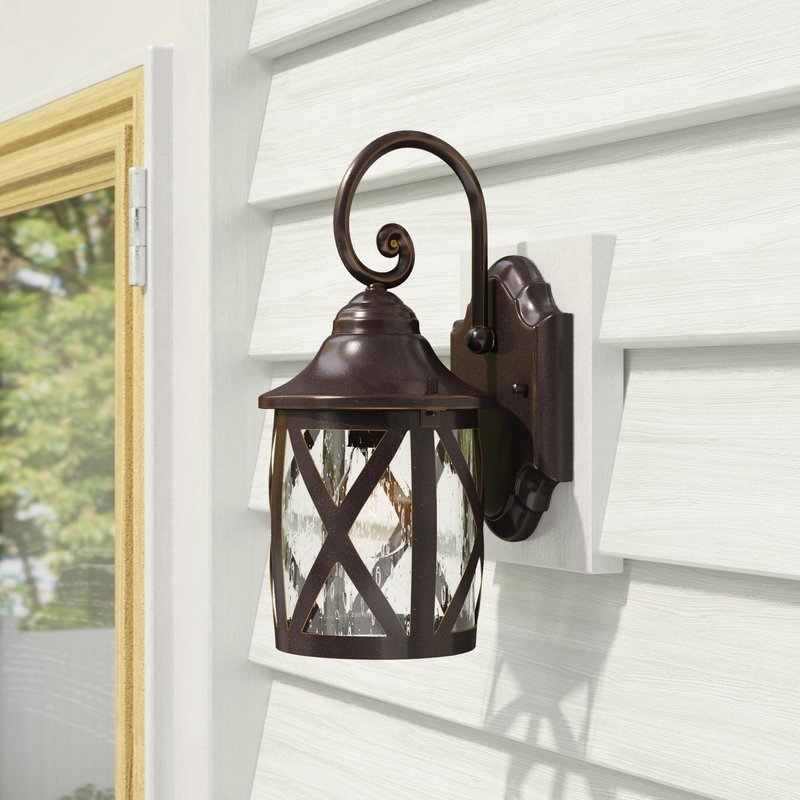 Inspiration about Laurel Foundry Modern Farmhouse Landon 1 Light Outdoor Wall Lantern With Joanns Outdoor Lanterns (#13 of 15)