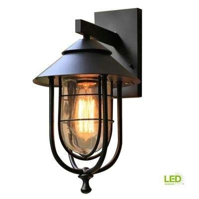 Inspiration about Led – Outdoor Wall Mounted Lighting – Outdoor Lighting – The Home Depot With Regard To Outdoor Lanterns With Led Lights (#9 of 15)