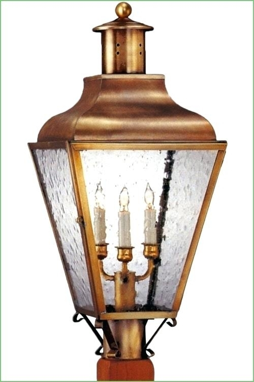 Inspiration about Lighting Post Light Outdoor Copper Lantern Solar Cap Lights Electric In Outdoor Electric Lanterns (#15 of 15)