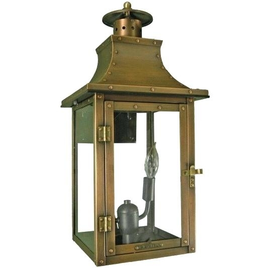 Inspiration about Lighting Post Light Outdoor Copper Lantern Solar Cap Lights Electric Pertaining To Large Outdoor Electric Lanterns (#13 of 15)
