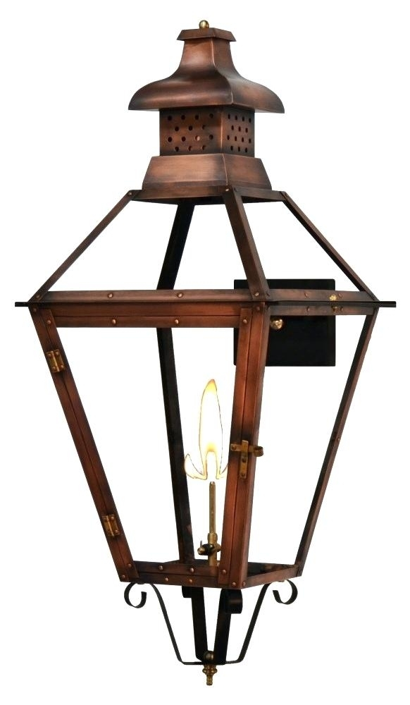 Inspiration about Lighting Post Light Outdoor Copper Lantern Solar Cap Lights Electric Regarding Large Outdoor Electric Lanterns (#10 of 15)