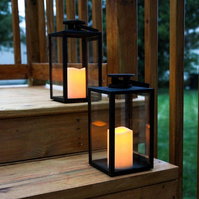 Inspiration about Lights | Decor | Flameless Candles | Battery Operated Lanterns Pertaining To Outdoor Lanterns With Timers (#9 of 15)