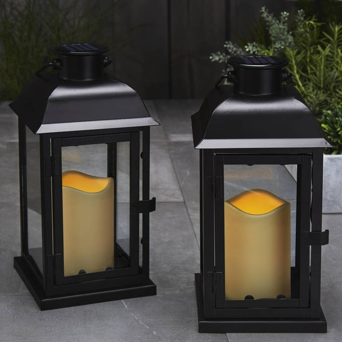 Lights | Decor | Flameless Candles | Battery Operated Lanterns With Regard To Outdoor Lanterns With Led Candles (View 5 of 15)
