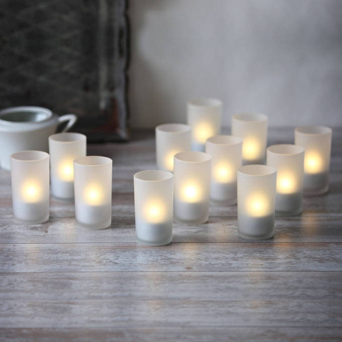 Lights | Decor | Flameless Candles | Led Tea Lights & Votives With Regard To Outdoor Lanterns And Votives (View 14 of 15)