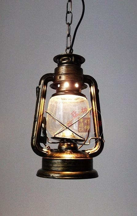 Inspiration about Loft Vintage Kerosene Iron Galss Pendant Lamps Outdoor Pendant Inside Outdoor Kerosene Lanterns (#13 of 15)