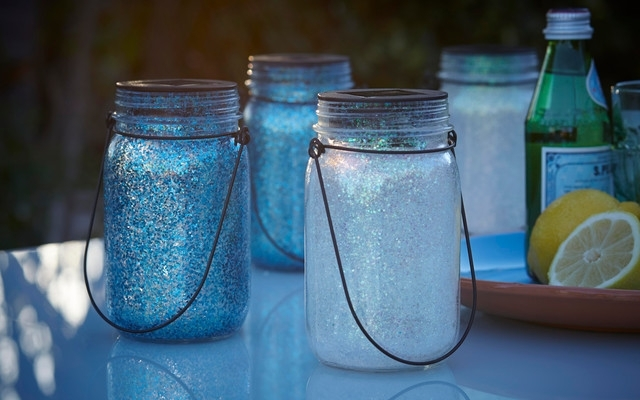 Inspiration about Lola Led Solar Powered Outdoor Glass Jar Lanterns – Contemporary With Outdoor Jar Lanterns (#15 of 15)