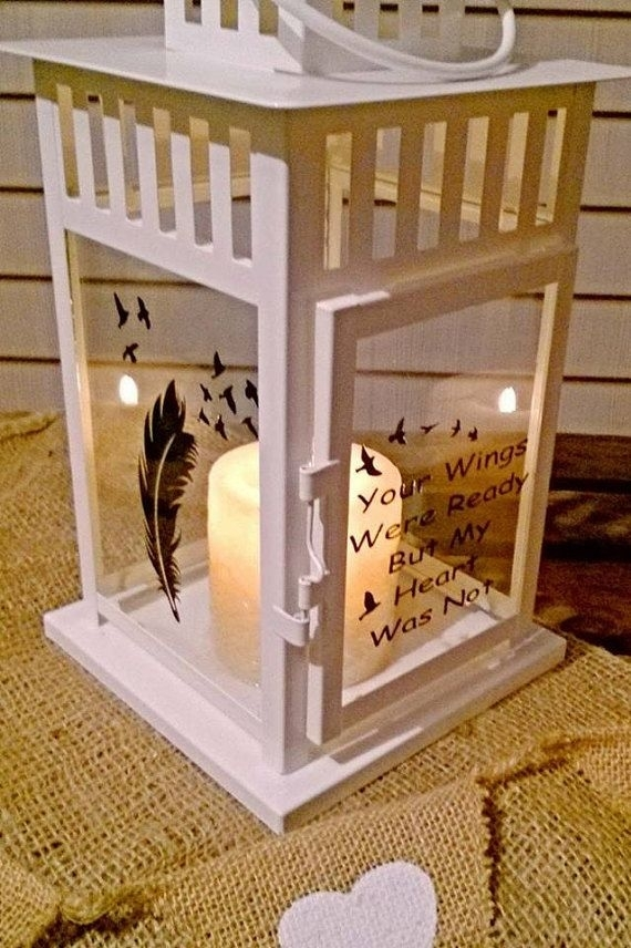 Lovely Memory/memorial/rememberance Lantern , Indoor Or Outdoor With Outdoor Memorial Lanterns (View 11 of 15)