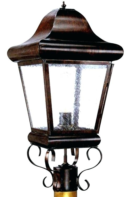 Lowes Post Lights Led Landscape Lighting Led Outdoor Lamp Post Pertaining To Outdoor Vinyl Lanterns (View 10 of 15)