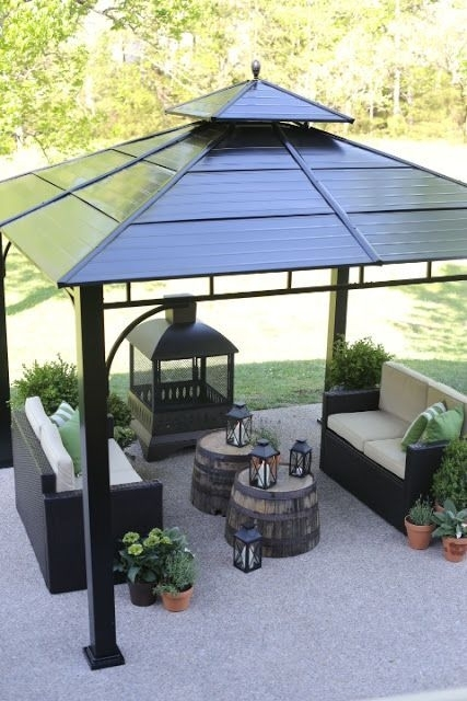 Inspiration about Lowe's Spring Makeover Reveal | Pinterest | Cozy Fireplace, Outdoor Regarding Outdoor Gazebo Lanterns (#7 of 15)