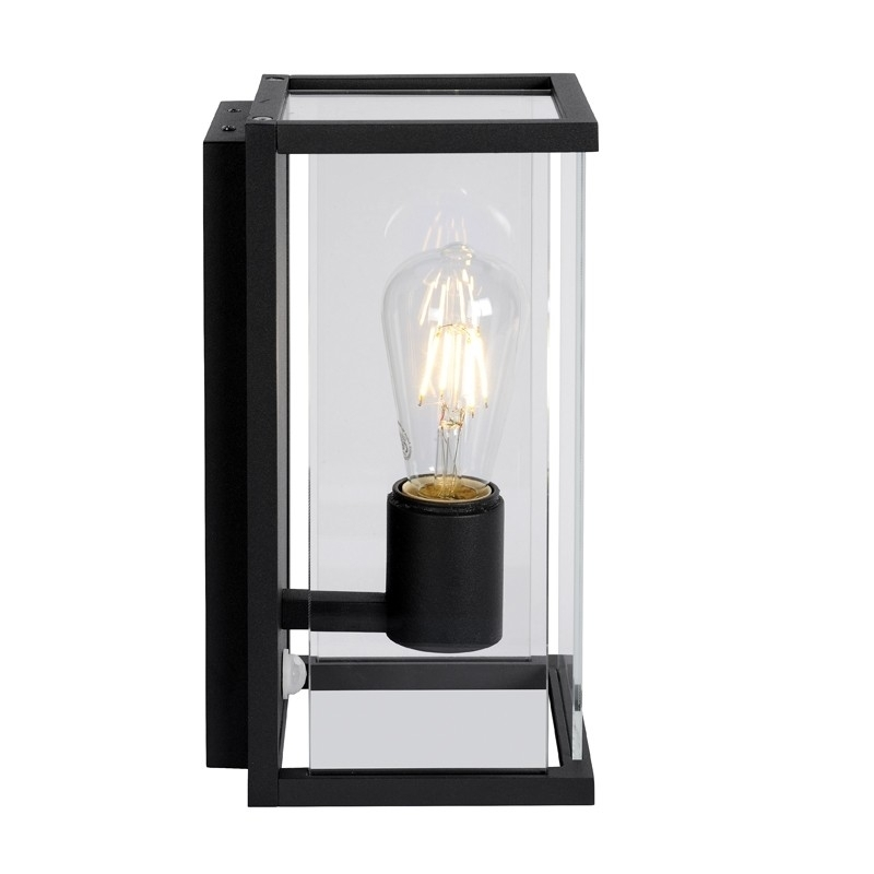 Lucide Claire Half Lantern Outdoor Wall Light With Pir Sensor Regarding Outdoor Pir Lanterns (#10 of 15)