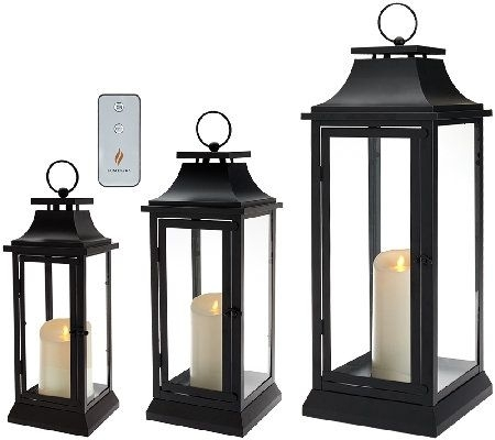 "Inspiration about Luminara 25"" Heritage Indoor Outdoor Lantern With Flameless Candle Inside Outdoor Luminara Lanterns (#1 of 15)"