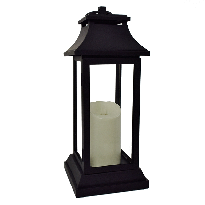"Luminara Battery Operated Flameless Candle With Lantern – 15"" Within Outdoor Luminara Lanterns (#8 of 15)"