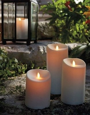 "Luminara Outdoor Candle – 9"" Ivory W/timer – Remote Ready Throughout Outdoor Luminara Lanterns (#11 of 15)"