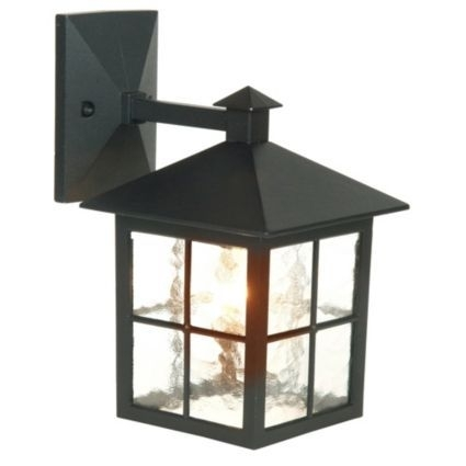 Inspiration about Maine Black Mains Powered External Wall Lantern | Window, Lights And Intended For Outdoor Mains Lanterns (#15 of 15)