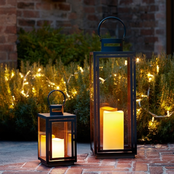Inspiration about Malvern Outdoor Lantern Bundle | Lights4Fun.co.uk Intended For Outdoor Lanterns With Battery Candles (#7 of 15)