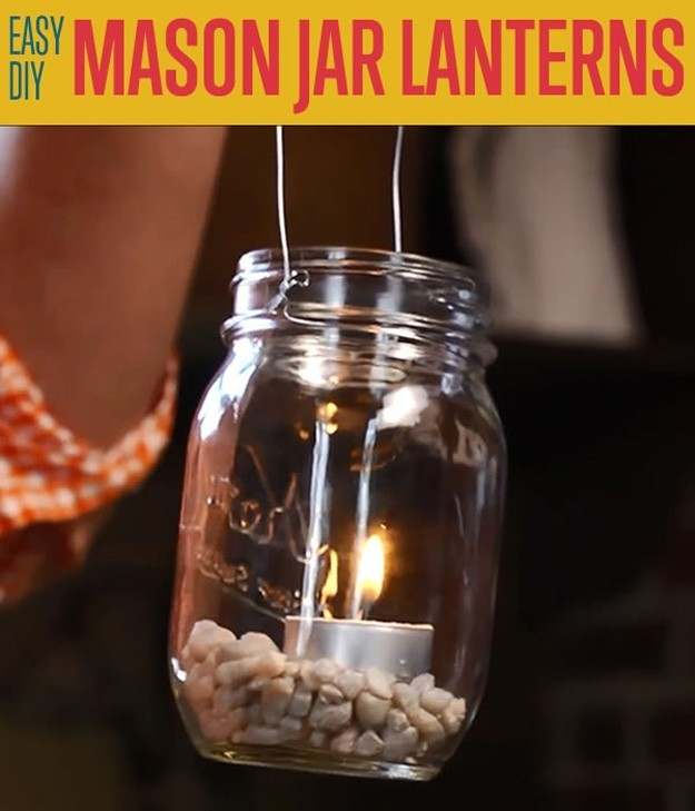 Mason Jar Lantern Projects Diy Projects Craft Ideas & How To's For Within Outdoor Jar Lanterns (View 2 of 15)