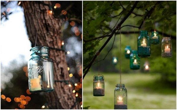 Mason Jar Lanterns And Candle Holders For Magical Weddings Intended For Outdoor Jar Lanterns (View 8 of 15)