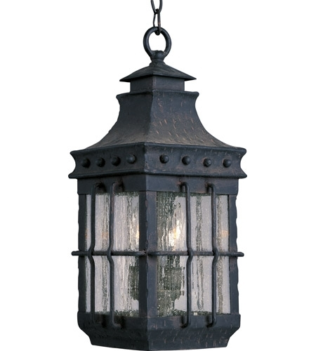 Maxim 30088cdcf Nantucket 3 Light 9 Inch Country Forge Outdoor In Nantucket Outdoor Lanterns (View 8 of 15)