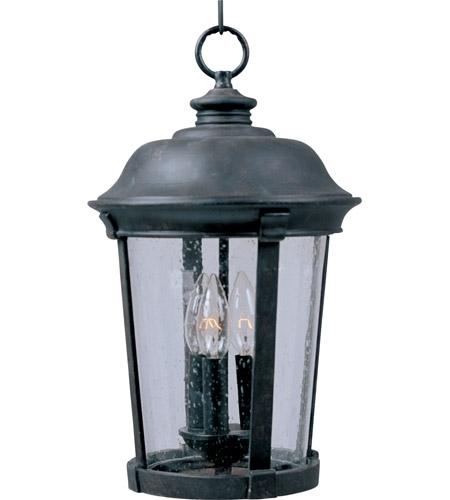 Inspiration about Maxim 40099Cdbz Dover Vx 3 Light 12 Inch Bronze Outdoor Hanging Lantern Regarding Outdoor Bronze Lanterns (#3 of 15)