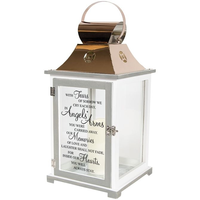 Memorial Lantern – In Angel's Arms | The Comfort Company | Garden Inside Outdoor Memorial Lanterns (View 2 of 15)