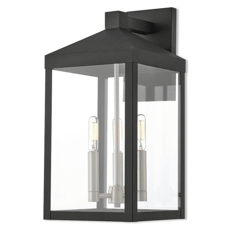Inspiration about Mercury Row Demery 3 Light Led Outdoor Wall Lantern & Reviews | Wayfair With Outdoor Vinyl Lanterns (#9 of 15)