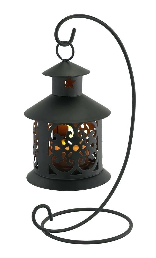 Metal Hanging Lanterns Led Lantern Metal Tealight Stand Decorative Within Outdoor Tea Light Lanterns (View 3 of 15)