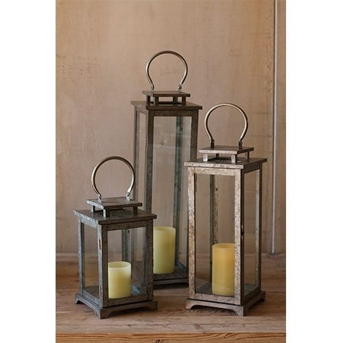 Inspiration about Metal Lantern Large Only Kalalou Outdoor Candle Lanterns Candle With Regard To Large Outdoor Rustic Lanterns (#1 of 15)