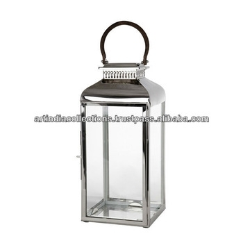 Metal Lantern/votive Lantern/steel Lantern/outdoor Lantern/room Throughout Outdoor Pillar Lanterns (#8 of 15)