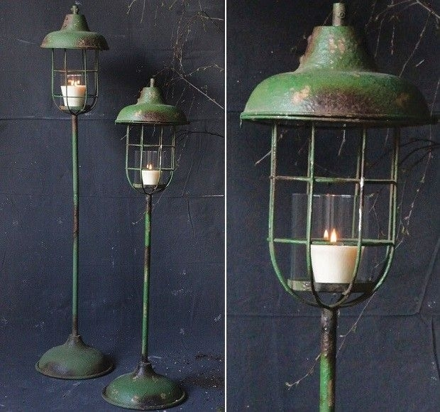 Metal Standing Lantern Pillar Holders | #1 | Pinterest | Candle Regarding Outdoor Standing Lanterns (View 8 of 15)