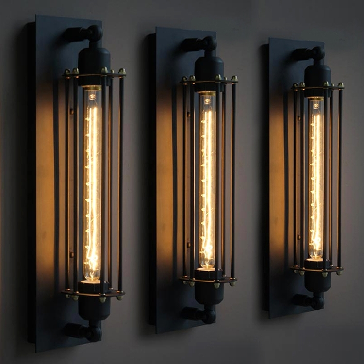 Miraculous Outdoor Light Sconces In Vintage Industrial Edison Wall Pertaining To Industrial Outdoor Lanterns (#11 of 15)