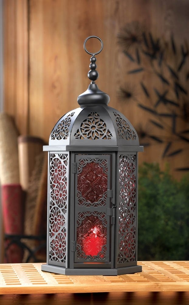 Inspiration about Moroccan Lanterns, Decorative Paprika Candle Lanterns Light For In Moroccan Outdoor Lanterns (#11 of 15)