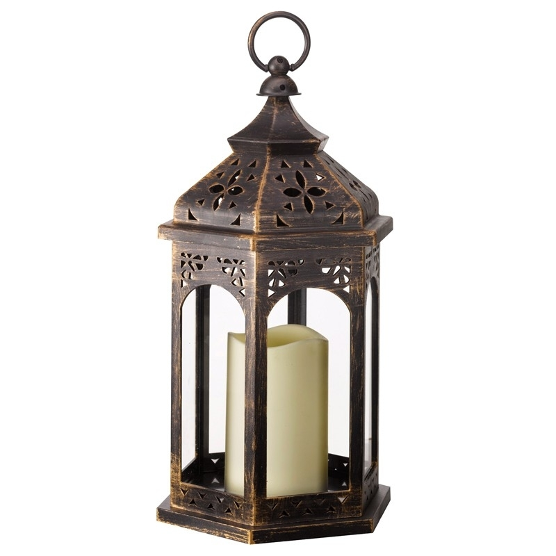 Inspiration about Moroccan Outdoor Battery Operated Candle Lantern – Bronze – Lighting With Outdoor Lanterns With Battery Operated Candles (#4 of 15)