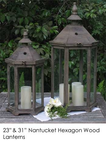 Nantucket Hexagon Lanterns | Town & Country Event Rentals Within Nantucket Outdoor Lanterns (View 12 of 15)