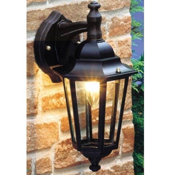 Nartel Mains Outdoor Suspended Wall Lantern Light Vintage 5661 Matt Intended For Outdoor Mains Lanterns (#10 of 15)