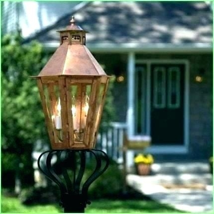 Natural Gas Post Lights Lighting Lamp Mantles Lava Heat Outdoor With Outdoor Patio Electric Lanterns (#9 of 15)