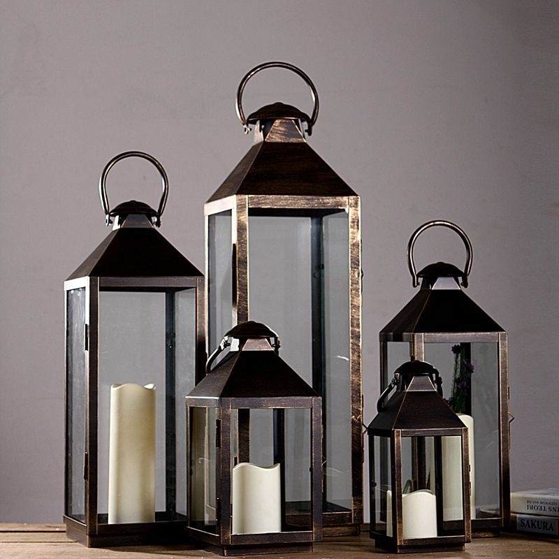 Neoteric Design Large Floor Lanterns Outdoor Candle Designs Throughout Outdoor Lanterns And Candles (View 12 of 15)