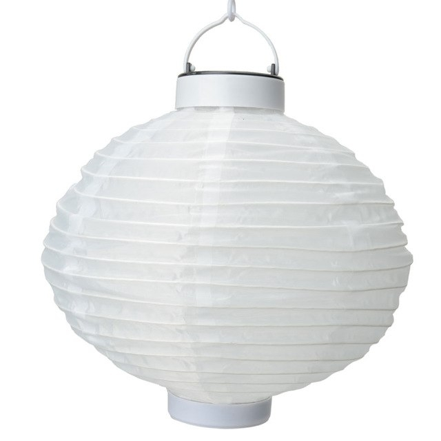 New Fashion Outdoor Solar Power Light Chinese Round Paper Lantern With Outdoor Round Lanterns (View 3 of 15)