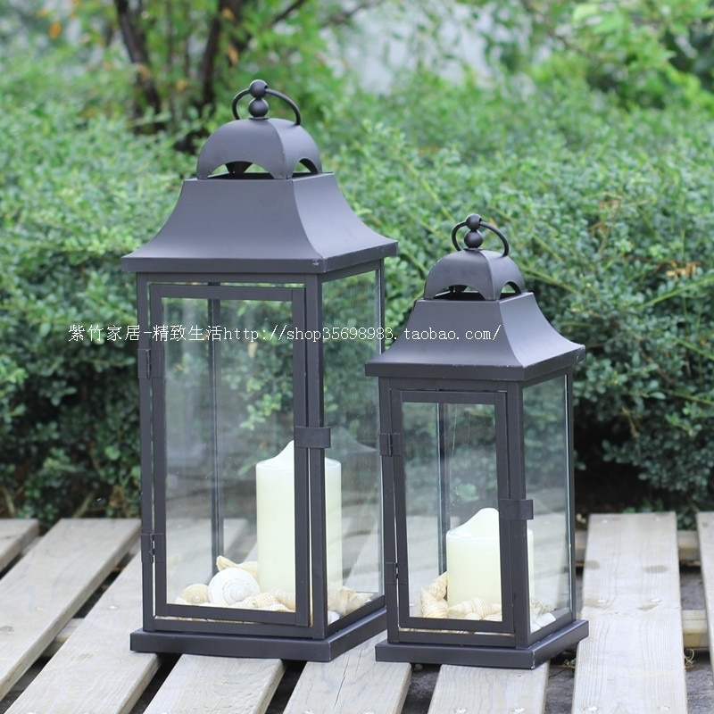 New Iron Candlestick Hotel Lounge Bar Club Commercial Establishments Inside Cheap Outdoor Lanterns (View 14 of 15)