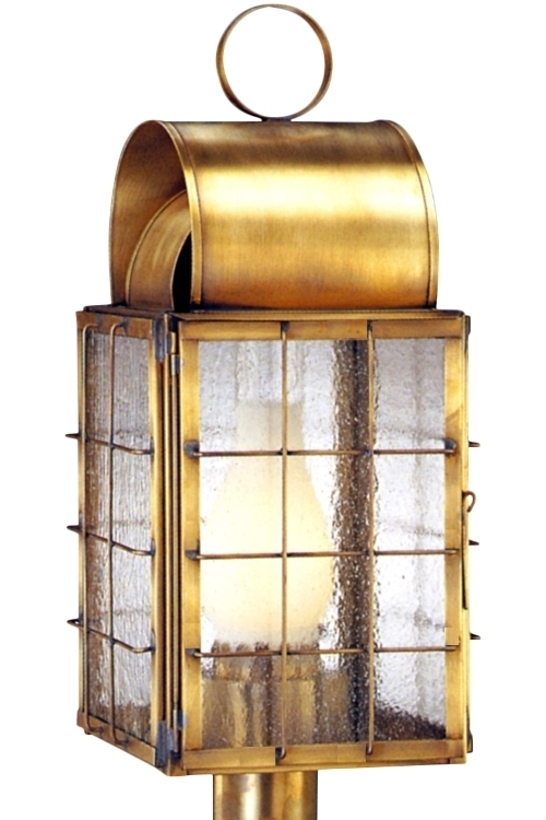 Newport Harbor Nautical Copper Lantern Post Light Head With Outdoor Nautical Lanterns (View 13 of 15)