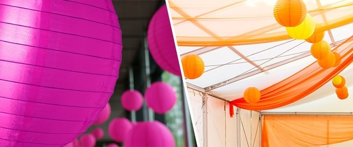 Nylon Lanterns – Nylon Chinese Lanterns – Outdoor Use Regarding Outdoor Vinyl Lanterns (View 7 of 15)