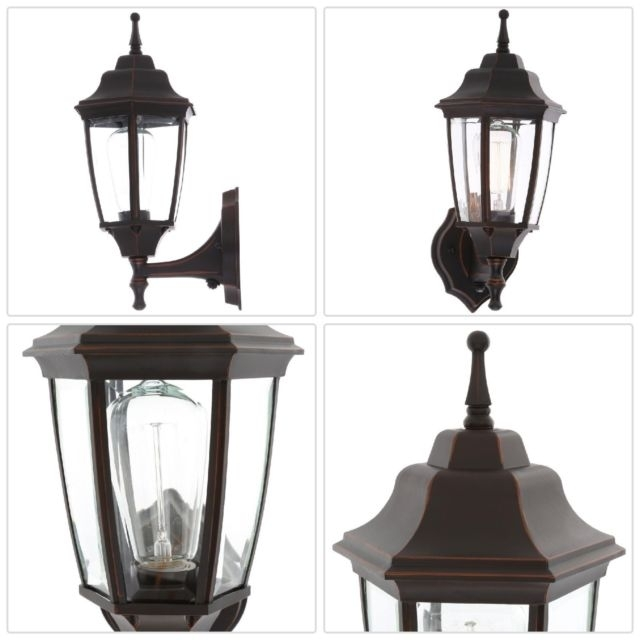 Oil Rubbed Bronze Outdoor Dusk To Dawn Wall Lantern Lighting Sconce For Outdoor Oil Lanterns For Patio (View 7 of 15)
