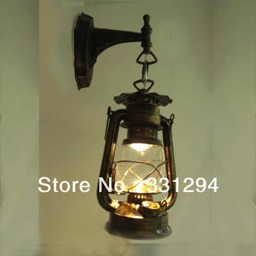 Old Fashioned Lanterns Vintage Led Wall Lamp Old Fashioned Kerosene Throughout Decorative Outdoor Kerosene Lanterns (#10 of 15)